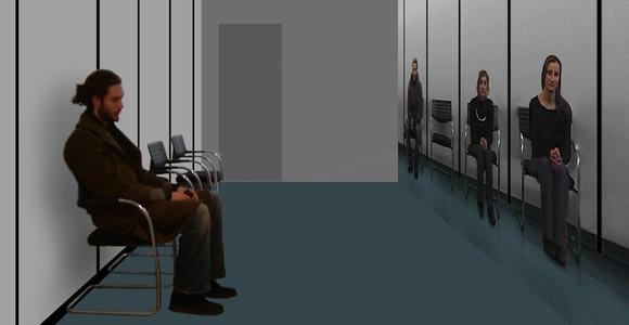 image de l'oeuvre Salle d'attente de  Cyprien Quairiat Cyprien Quairiat